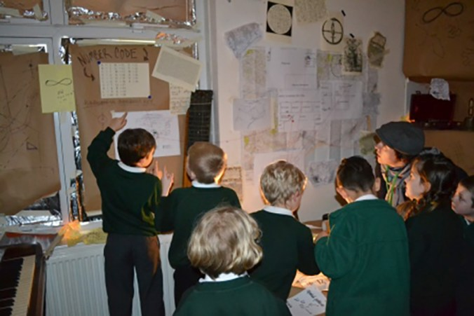Punchdrunk Enrichment in residence at Hamstreet Primary Academy in Kent, England.