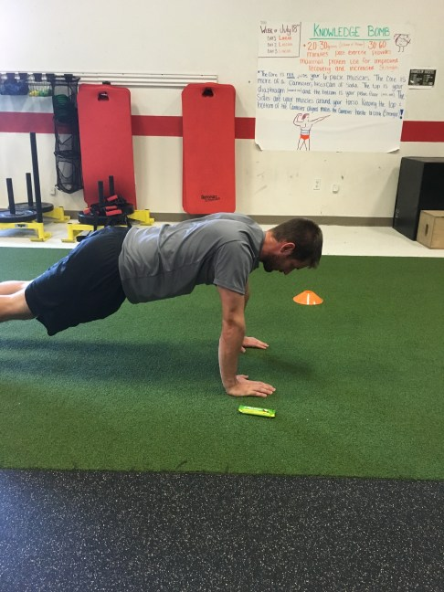 Incomplete push up
