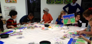 YOUNG PICASSOS ART CLASS IN SESSION! STUDYING THE MODERN ARTIST MONET AND IMPRESSIONISM.
