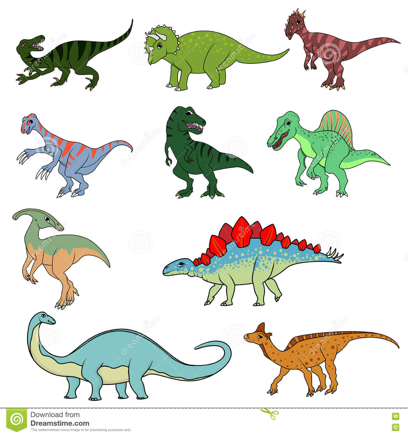 Differents Dinosaures
