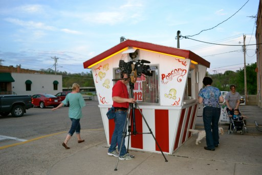 Famous & popular popcorn stand.