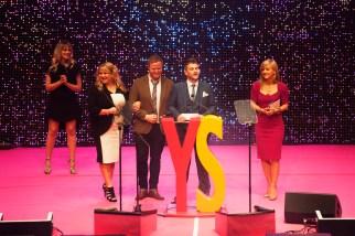 FOR SUNDAY MAIL Enterpride award VIP Presenter: Rivercity. Young Scot Awards 2015, Usher Hall, Edinburgh.. FEE PAYABLE FOR ALL INTERNET USE All money payable:- Mark Anderson Flat 2/2 Glasgow G41 3HG