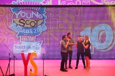 FOR SUNDAY MAIL Prides with Edith Bowman. Young Scot Awards 2015, Usher Hall, Edinburgh.. FEE PAYABLE FOR ALL INTERNET USE All money payable:- Mark Anderson Flat 2/2 Glasgow G41 3HG