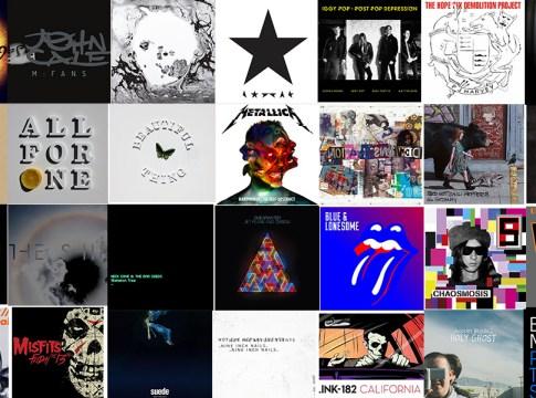 Лучшие альбомы 2016