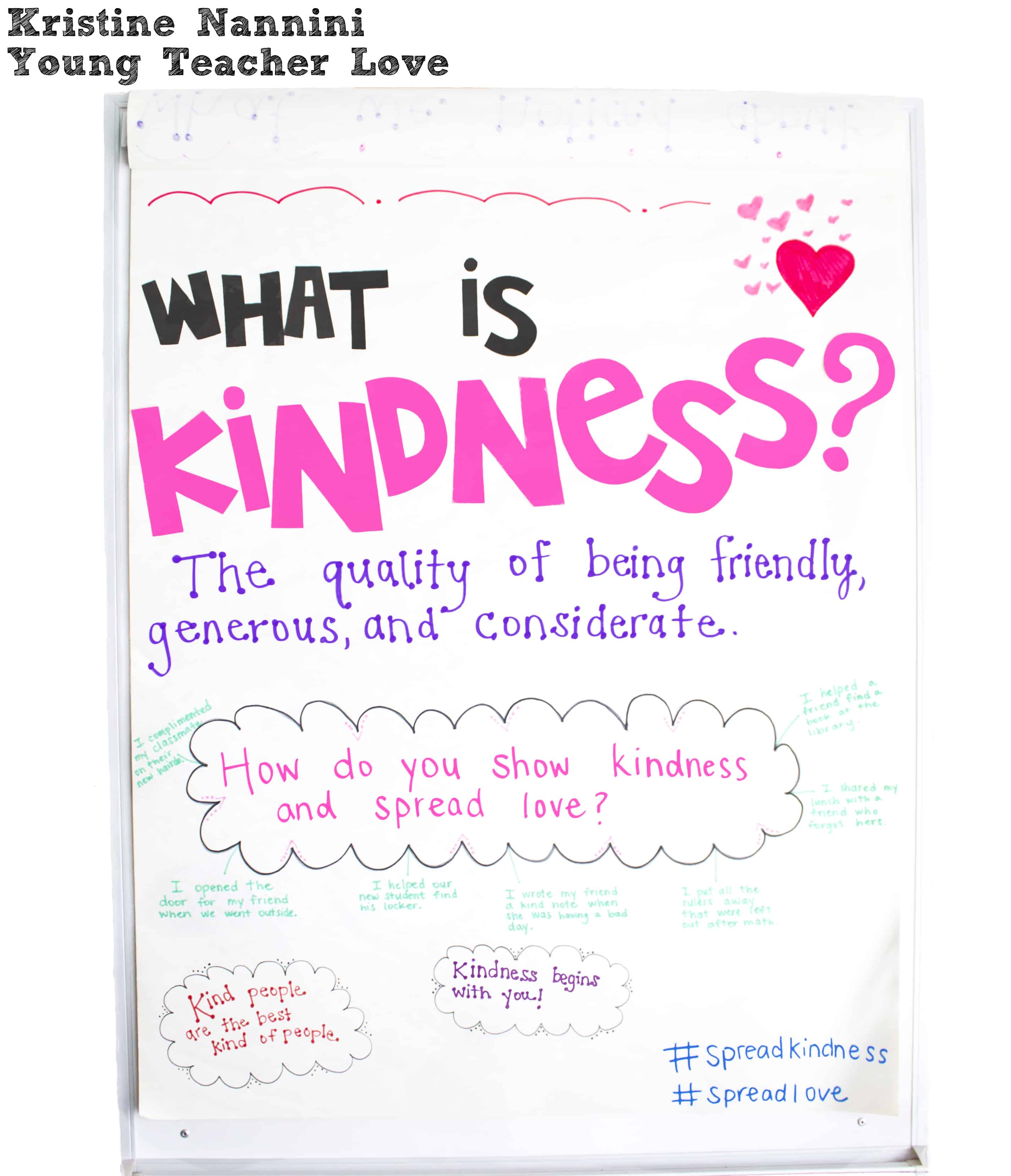 Anchor Chart To Teach Kindness