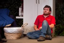 Laurence Kinlan (Kurt) in The Nest at the Young Vic. Photo by David Sandison.