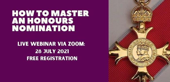 """Invitation: """"How to master an Honours Nomination for Young People"""""""