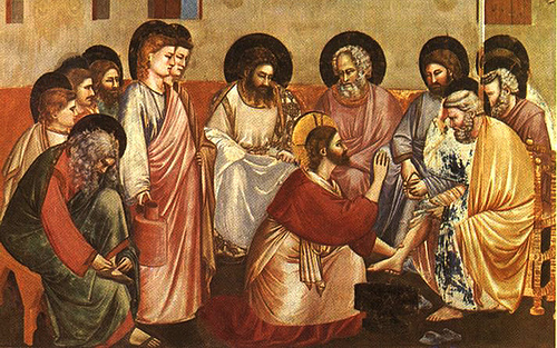 Jesus washing the disciples disciples feet!