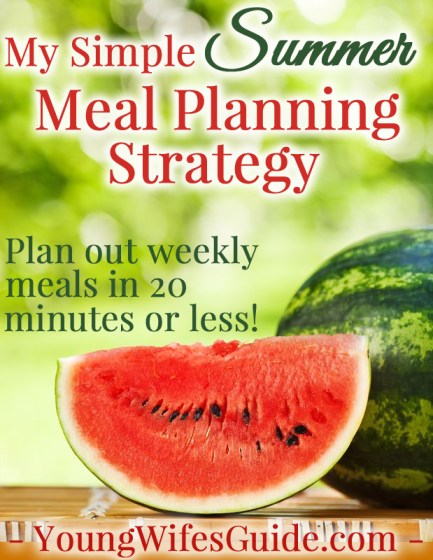 My Simple Summer Meal Planning Strategy