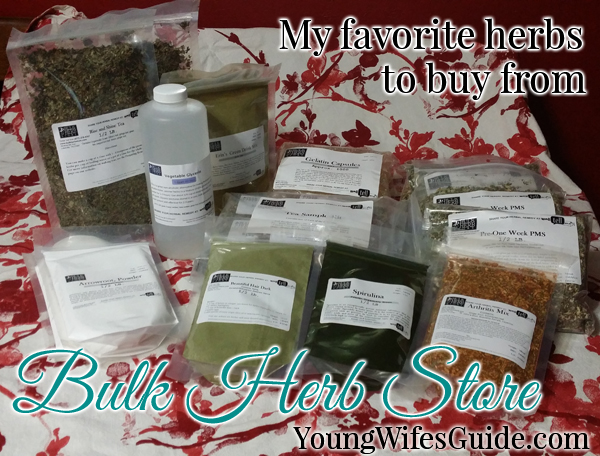What I order from The Bulk Herb Store and how I use the herbs!