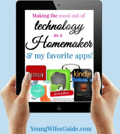 I've also found, that when used correctly, technology can be a huge help in my homemaking! Here are my favorite apps I use to help with my homemaking!