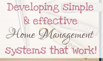 developing simple and effective home management systems that work 2