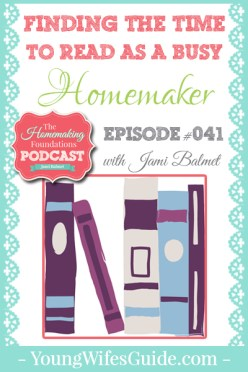 Hf #41 - Finding the Time to Read as a Busy Homemaker - Pinterest