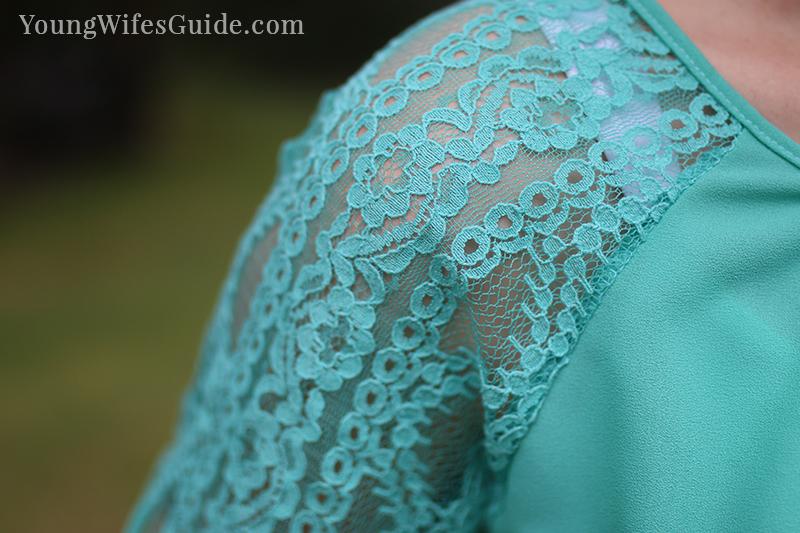 Mint lace Stitch Fix shirt 2