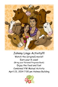 Johnny Lingo Activity Invitation