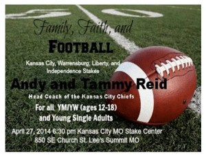 Family, Faith and Football fireside by Andy Reid and his wife Tammy