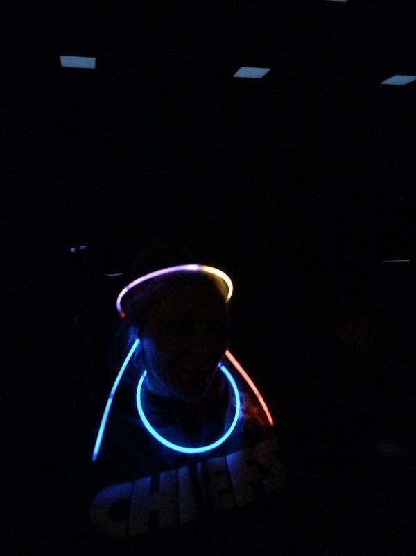Glow Stick Basketball Young Women Mutual Activity
