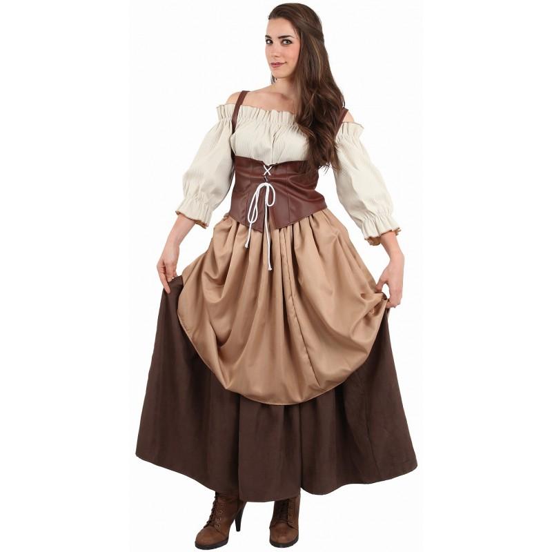 deguisement femme paysanne medievale
