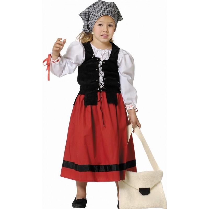deguisement paysanne medievale fille