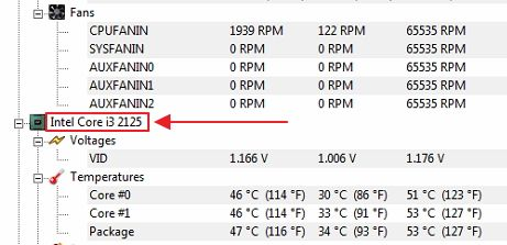 The operating temperature of the laptop card  The normal operating