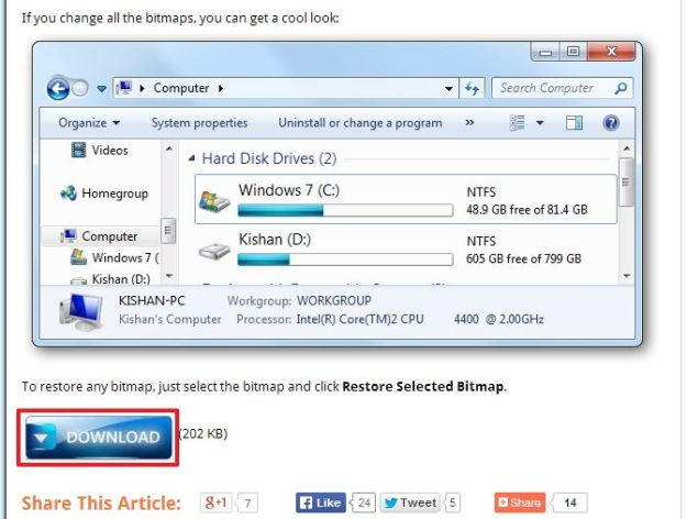Скачиваем Change Windows 7 Navigation Buttons Easily