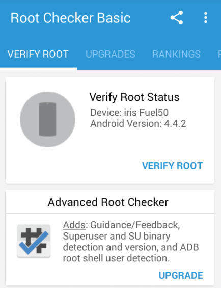 Root checker inside