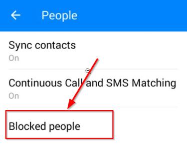 blocked people link facebook mennenger