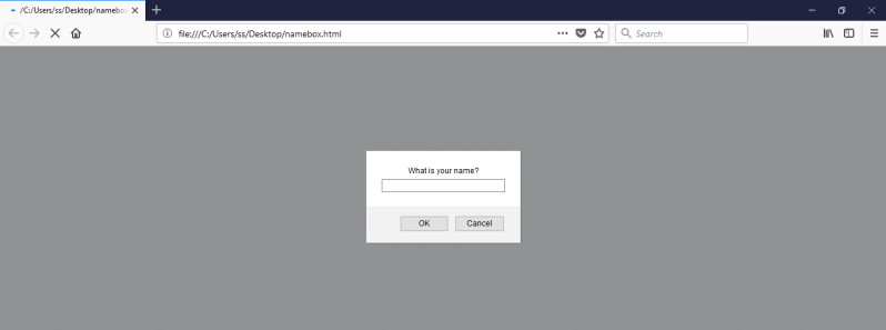 run javascript file in firefox browser