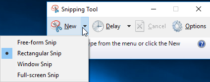 snipping tool options to snip window asus