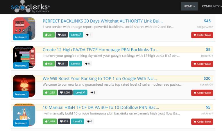 seoclerks freelance marketplace