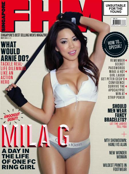Mila G 757x1024 - Mila G for FHM Magazine Singapore