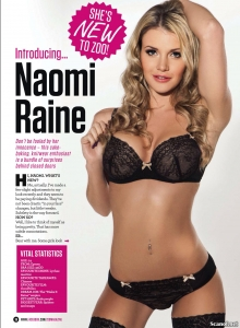 Naomi Raine - Naomi Raine is New to Zoo Magazine