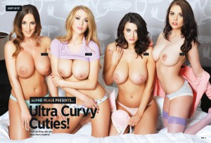 nuts - Sophie Reade & Friends present Ultra Curvy Cuties for Nuts Magazine