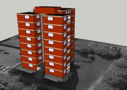 SketchUp-Modell 3D Hochhaus