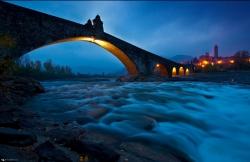 Ponte Gobbo at Bobbio, Piacenza
