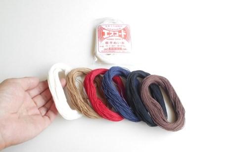 キットの縫い糸(麻手縫い糸30m)