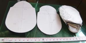 型紙とコピー用紙のサンプル