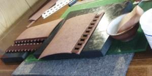 レザーブックカバーの蝶番部分の作成