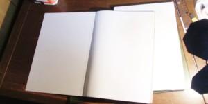 オーダーメイドのノートカバー制作開始