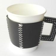 五角のレザーカップスリーブ Black 5