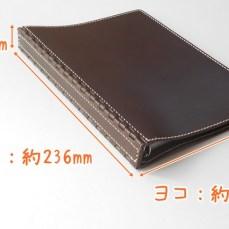 A5 レザー蝶番のシステム手帳 Brown 5