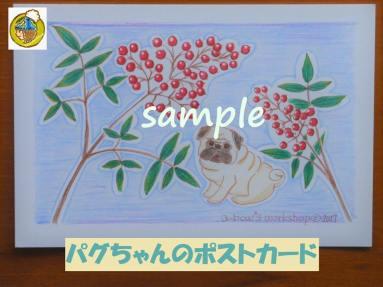 パグちゃんのポストカード