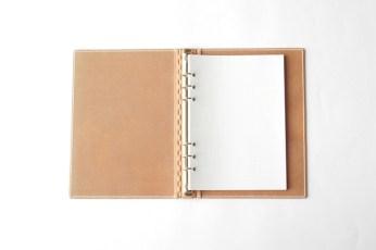 レザー蝶番のシステム手帳・A5サイズ Natural