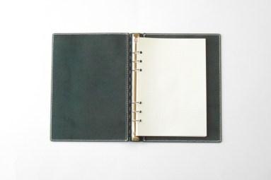 レザー蝶番のシステム手帳・A5サイズ Navy