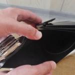 札入れ(コインキャッチャーの二つ折り財布)