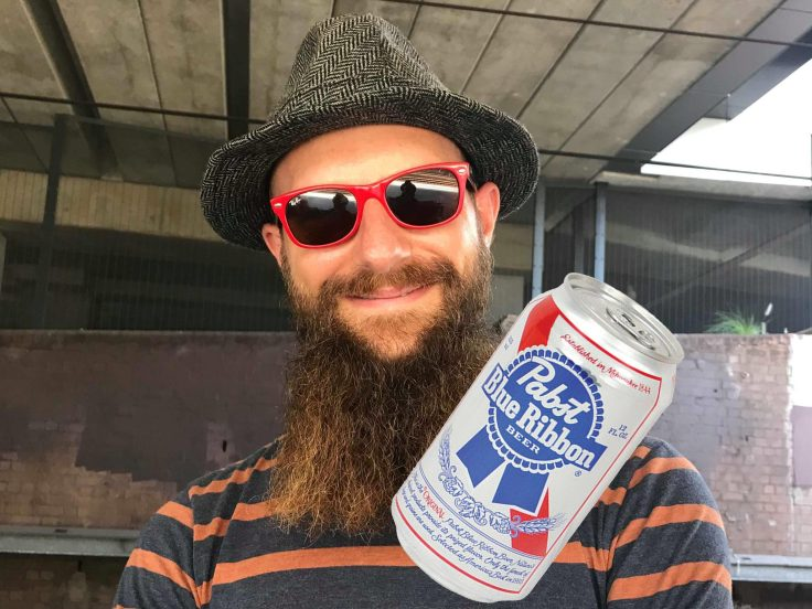 Hipster and Pabst Blue Ribbon - Your Startup Guru