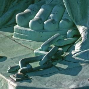 Pied Statue de la Liberté