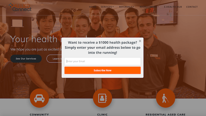 Allied Health Popup