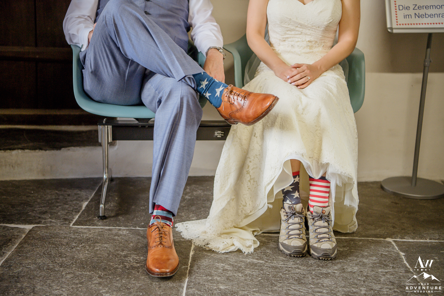 Couple waiting for their legal ceremony in Switzerland