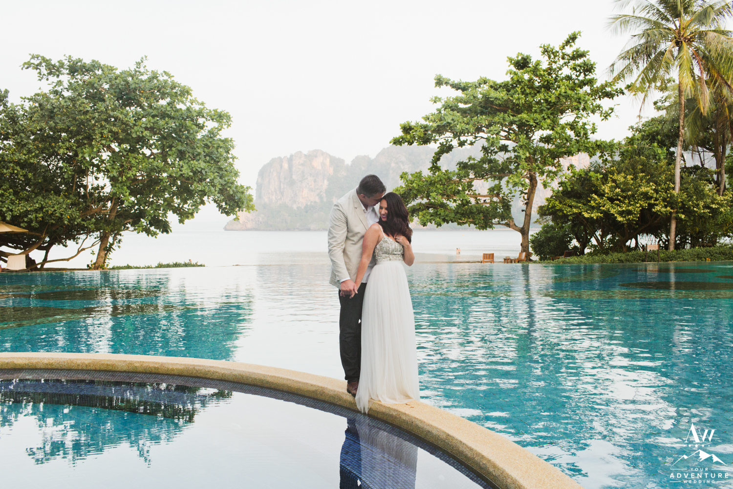 Thailand Wedding Couple at Rayavadee Railay Beach Thailand